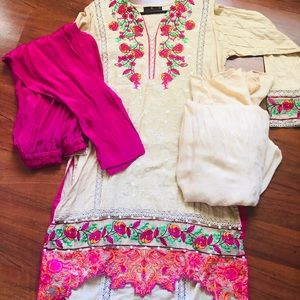 Brand new 3 piece dress with jacquard duppat